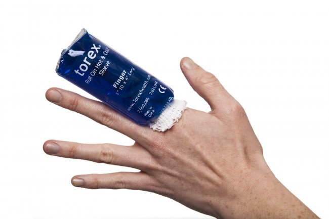 Photo of Hot/Cold Therapy Roll-On Sleeves - Finger Size